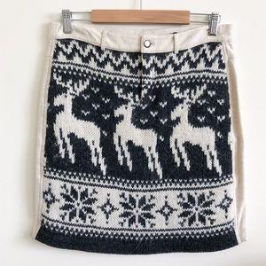 Free People Nordic Reindeer Alpaca Skirt